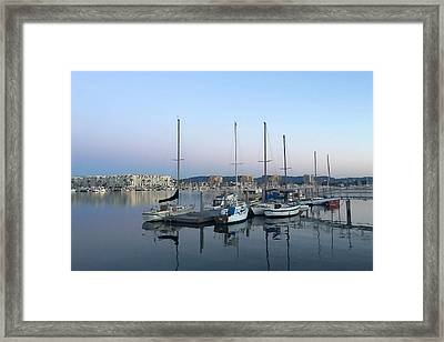 Peaceful Harbor Framed Print by Art Block Collections