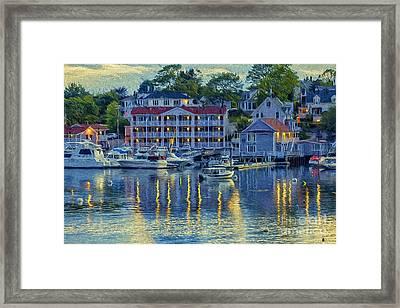 Peaceful Harbor Framed Print