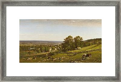 Peaceful Homes Framed Print by James MacDougal Hart