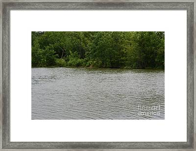 Peaceful Lake Framed Print by Ruth Housley