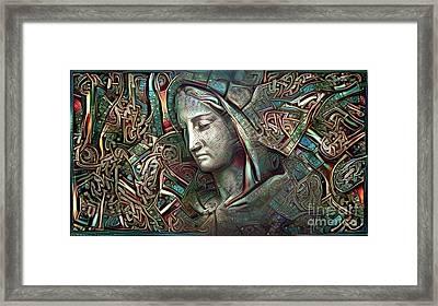 Peaceful Madonna Framed Print