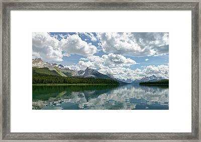 Peaceful Maligne Lake Framed Print