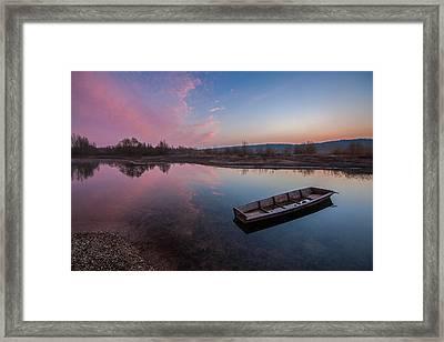 Peaceful Morning At River Framed Print