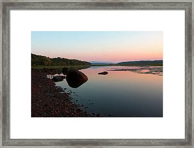Peaceful Morning On The Hudson Framed Print