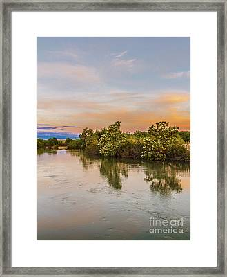 Peaceful Morning View Framed Print