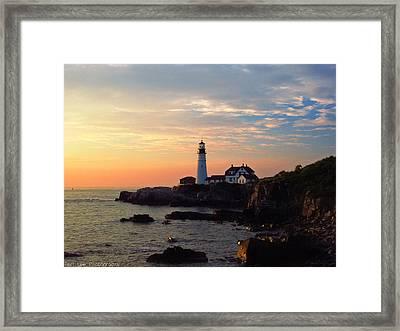 Peaceful Mornings Framed Print