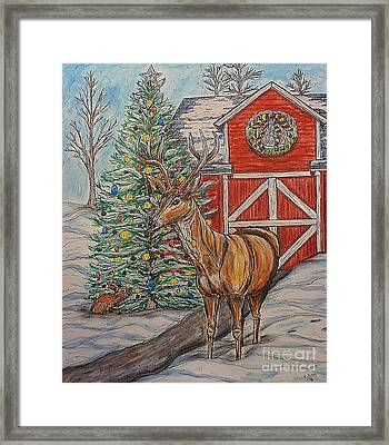 Peaceful Noel Framed Print
