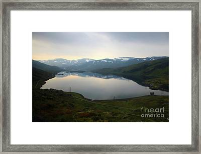 Peaceful Norwegian Lake Framed Print by Carol Groenen