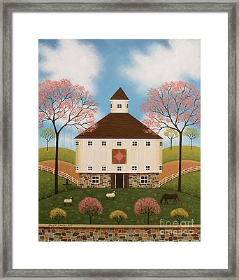 Peaceful Pasture II Framed Print by Mary Charles