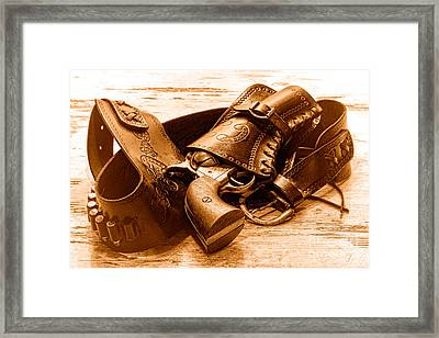 Peaceful Peacemaker - Sepia Framed Print by Olivier Le Queinec