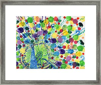 Peaceful Peacock Framed Print