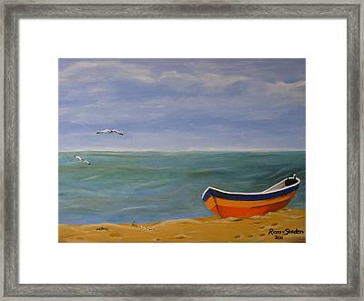 Framed Print featuring the painting Peaceful Place by Riana Van Staden