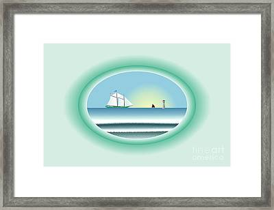 Peaceful Porthole Framed Print by Steve Smyth