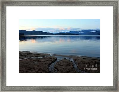 Peaceful Priest Lake Framed Print by Carol Groenen