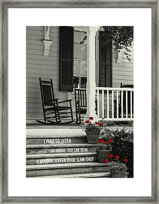 Peaceful Quote Framed Print by JAMART Photography