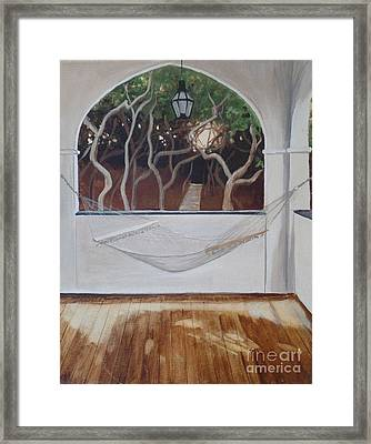 Peaceful Retreat Framed Print by Carla Dabney