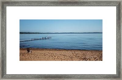 Framed Print featuring the photograph Grand Traverse Bay Beach-michigan  by Joann Copeland-Paul