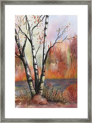 Framed Print featuring the painting Peaceful River by Annette Berglund
