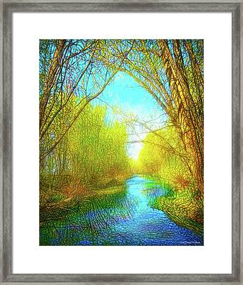Peaceful River Spirit Framed Print