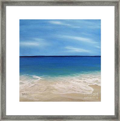 Peaceful Sands Framed Print