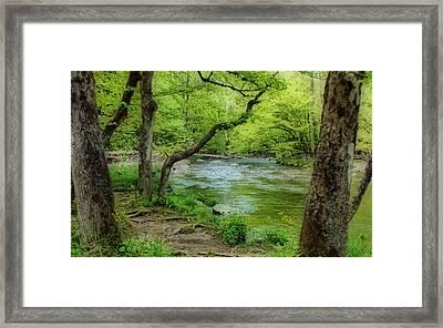 Peaceful Scene Framed Print by Sandy Keeton