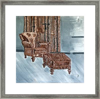 Peaceful Seating Framed Print