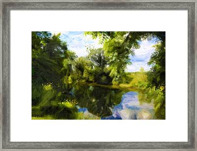 Peaceful Stream Framed Print by Chamira Young