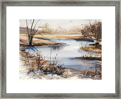 Peaceful Stream Framed Print