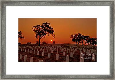 Peaceful Sunset Framed Print