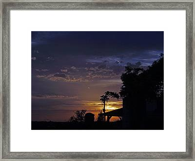 Peaceful Sunset Framed Print by James Granberry