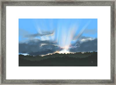 Peaceful Sunset  Framed Print by Veronica Minozzi
