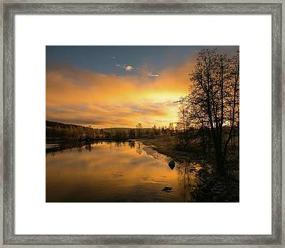 Peaceful Thoughts Framed Print by Rose-Marie Karlsen