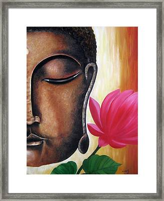 Peaceful Framed Print by Usha Rai