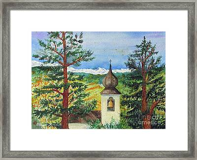 Peaceful Valley Bell Tower Framed Print