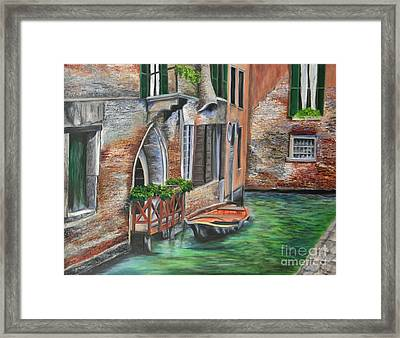 Peaceful Venice Canal Framed Print