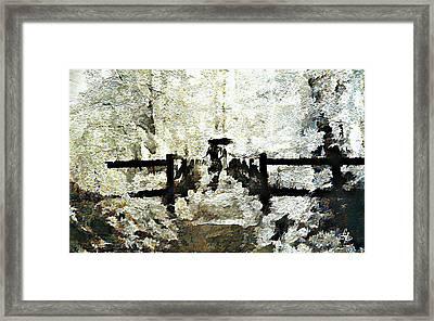 Peaceful Walk Framed Print by Lynda Payton