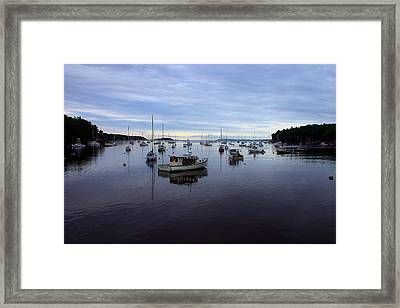 Peaceful Waters Framed Print by Dennis Curry