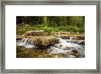 Peaceful Waters - Upper Provo River Framed Print