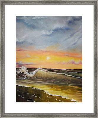 Peaceful Wave Framed Print by Scott Easom