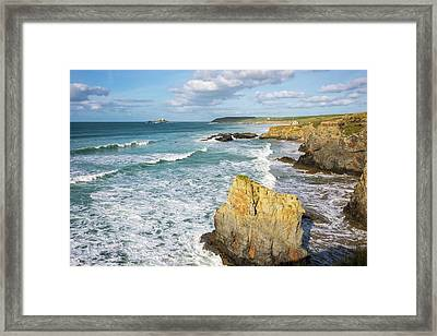 Peaceful Waves Framed Print