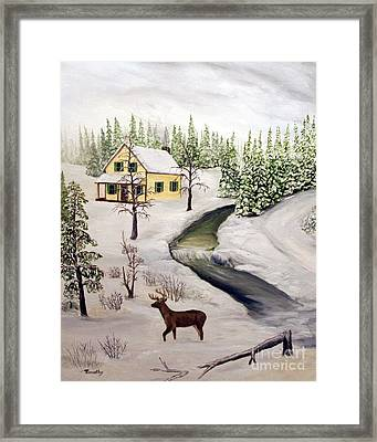 Peaceful Winter Day Framed Print by Timothy Smith