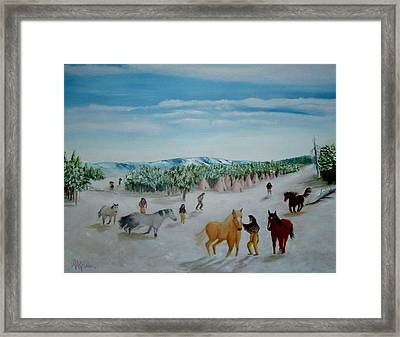 Peaceful Winter Framed Print by Mary Kaser