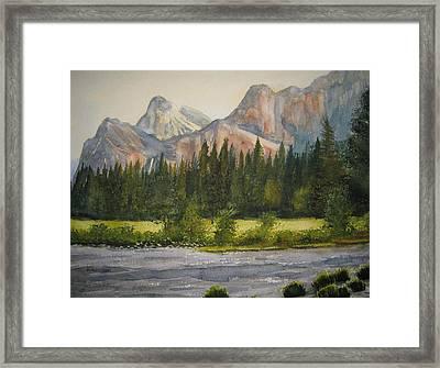 Peaceful Yosemite Framed Print by Shirley Braithwaite Hunt
