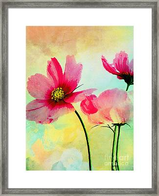 Framed Print featuring the digital art Peacefulness by Klara Acel