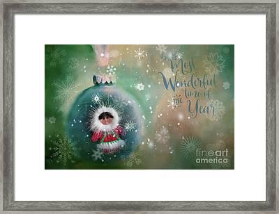 Peace,love,joy Framed Print