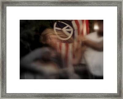 Framed Print featuring the photograph Peaces Through Music by Karen Musick