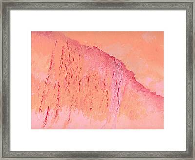 Peach And Pink Framed Print by Helene Henderson