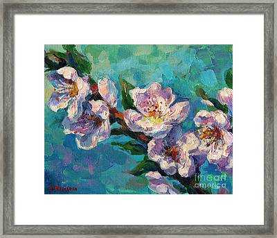 Peach Blossoms Flowers Painting Framed Print