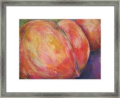Peach Bottom Framed Print