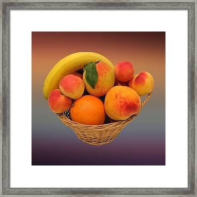 Peach Bowl  Framed Print by Movie Poster Prints